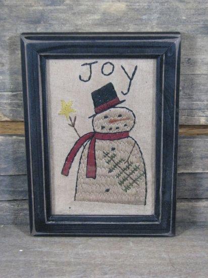 Primitive Christmas Sampler - Snowman Joy