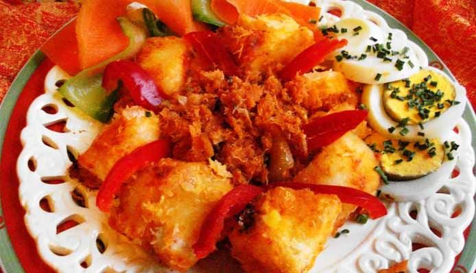 Surinaams eten – Telo (cassave met bakkeljauw)