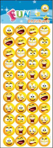 Smileys klistermærker ark med mange flotte emojis smileys fra sjovogkreativ.dk