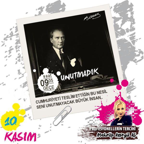 Türkiye Cumhuriyeti'nin kurucusu ve çağdaş Türkiye'nin mimarı Gazi Mustafa Kemal Atatürk! Sen ebedi istirahatgahında rahat uyu! Bizler emanetin olan Türkiye Cumhuriyeti'ne her zamanki gibi gönülden sahip çıkarak, sana layık bir millet olmaya devam edeceğiz.