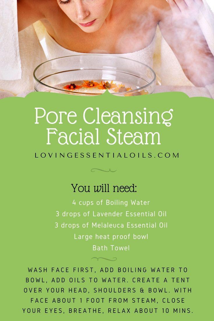 Pore Cleansing Facial Steam Essential Oil Recipe | Lavender Oil | Melaleuca Oil | Natural Skin Care Face Steamer | Homemade DIY Pore Cleanser | Facial At Home