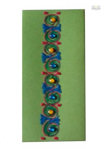 Handmade Shagun Envelopes decorated with Flower making a perfect gift for weddings, birthdays and all other occasions.