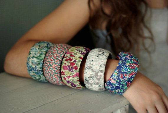 What a gorgeous armful of tana lawn bangles