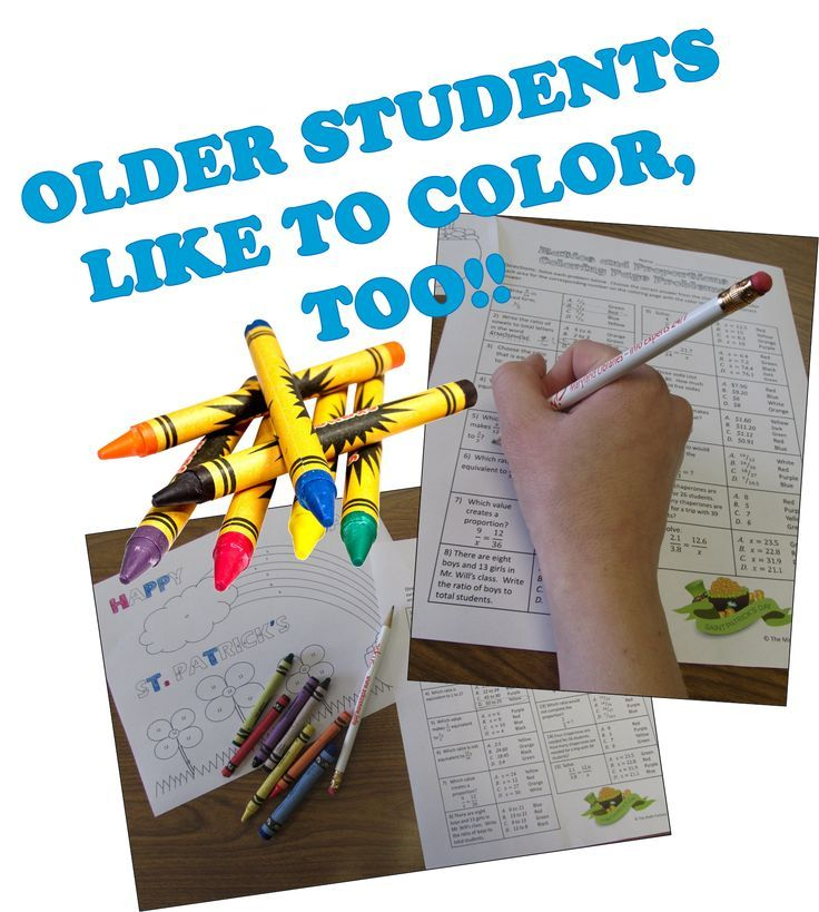 Coloring Pages: Middle and high school math topics for ...