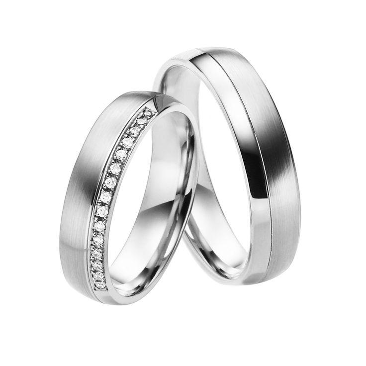 Juwelier Kraemer – Trauring Platin mit Brillant ROM