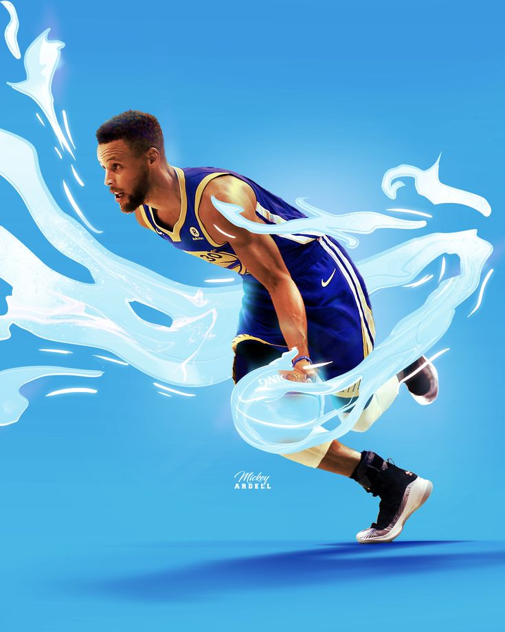 Steph Curry NBA Art #wmcskills