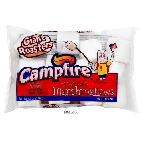 Marshmallow Americano Gigante Para Assar Campfire 340g