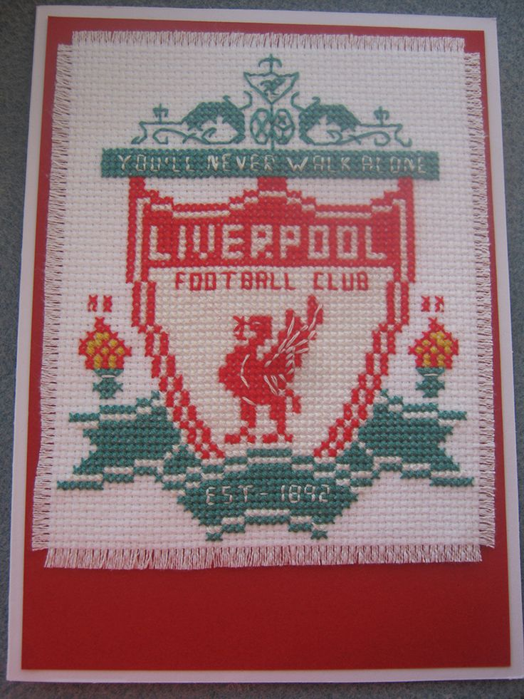 Cross Stitch Liverpool Badge Card