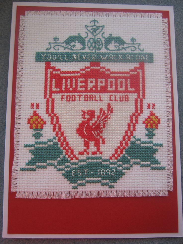 Cross Stitch Liverpool Badge Card