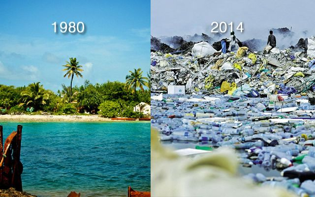 Desconsuelo total. Un paraiso natural convertido en una isla de basura