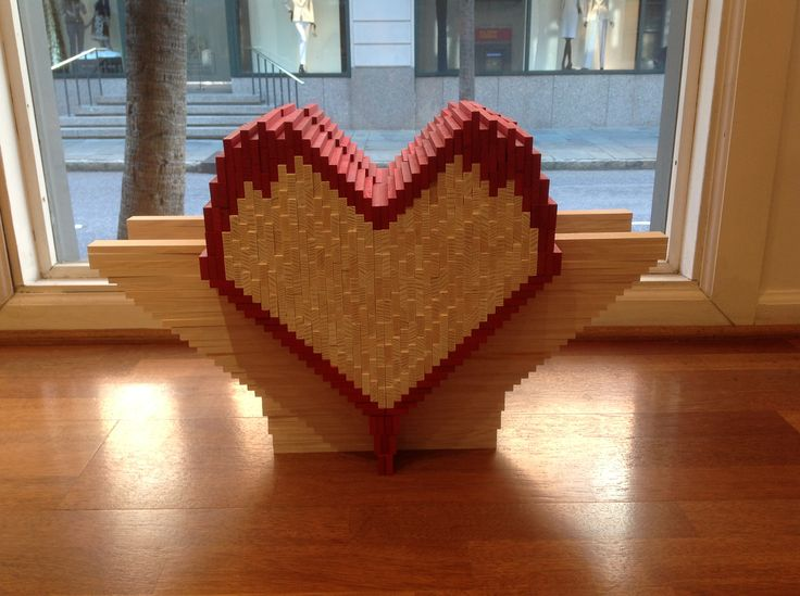 Valentines Day or Mothers Day would be a great day to build a KAPLA Heart!