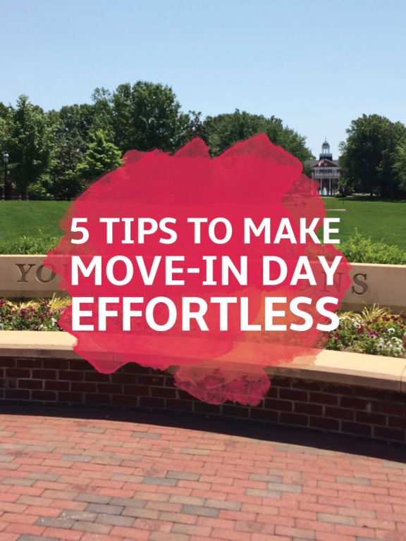 5 Tips to Make College Move-In Day Effortless