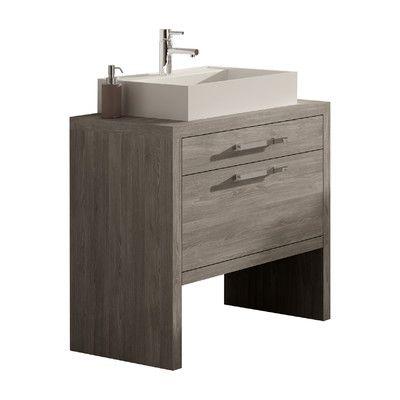 "Hispania Home Montreal 32"" Single Sink Bathroom Vanity Set"