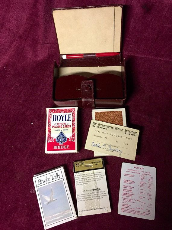 Hey, I found this really awesome Etsy listing at https://www.etsy.com/listing/213363227/vintage-playing-card-case-bridge