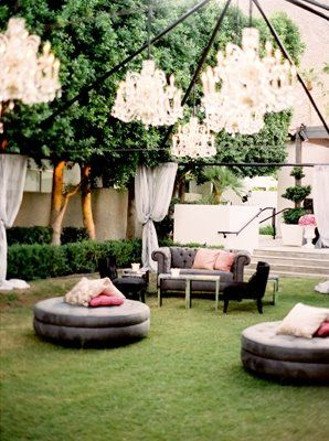 Gorgeous outdoor lounge.