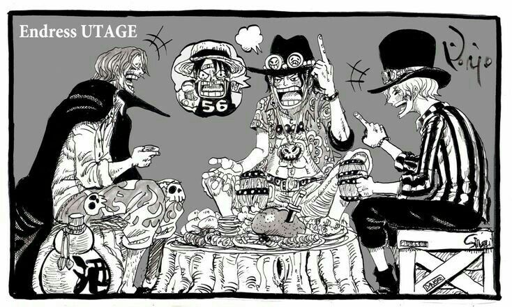 Ace And Sabo Talk About Luffy To Shanks