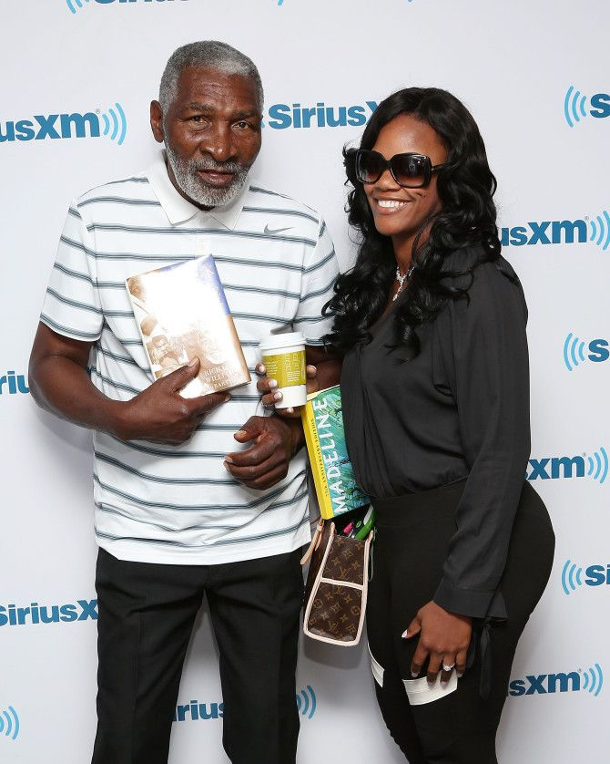 Richard Williams (father of Venus and Serena Williams) and then-girlfriend Lakeisha Graham in New York May 6, 2014