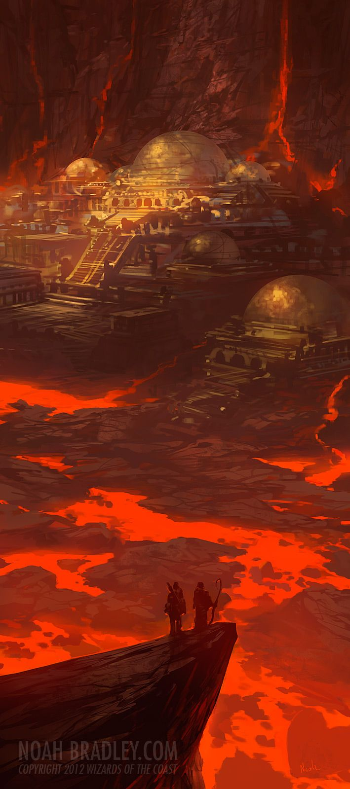 Efreet Palace by *noahbradley on deviantART  --City of Brass on the Plane of Fire