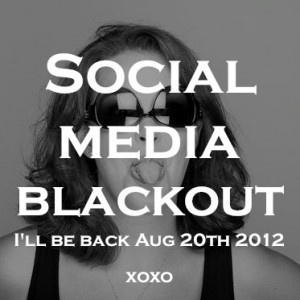 Time for a social media blackout. Could you do it?     http://ameenafalchetto.com/marketing/social-media-blackout/