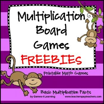 Multiplication Games FREEBIE from Games 4 Learning These cute monkeys really want to help your students to master basic multiplication facts. There are 2 NO PREP Multiplication Games included here - Catch the Monkeys Board Game is a game for 2-4 players.