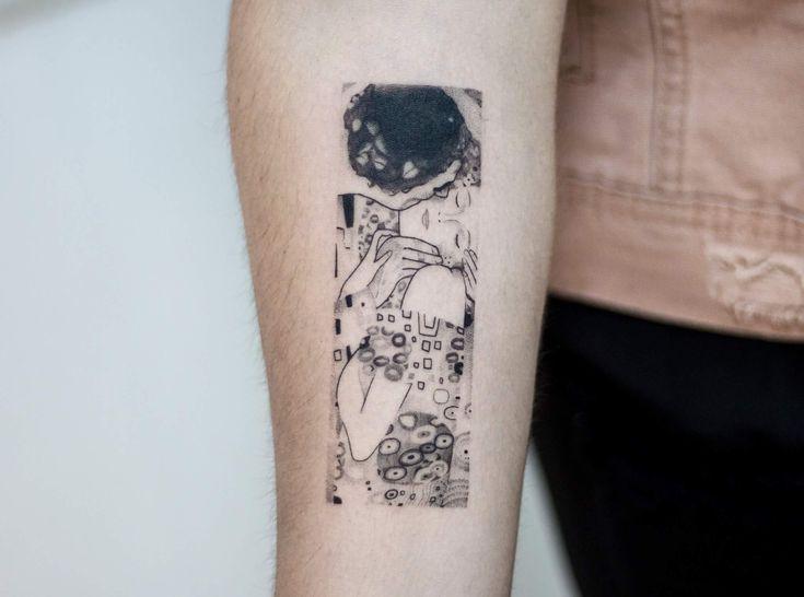 Tatuaje El beso de Klimt  The kiss Klimt Tattoo