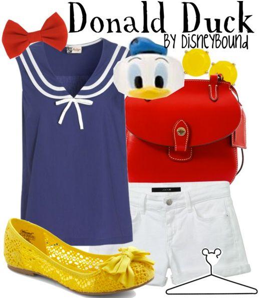 donald duck.: Donald Ducks, Disneybound Fashion, Disney Outfit, Disney Inspiration, Disney Bound, Disneybound Inspiration, Disney Styles, Disneybound Donaldduck, Disney Fashion