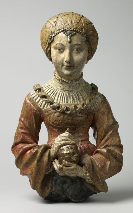 Young woman from a chandelier Southern Germany, Swabia Early 16th century