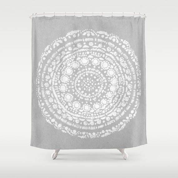 Grey White Shower Curtain grey shower curtain gray shower
