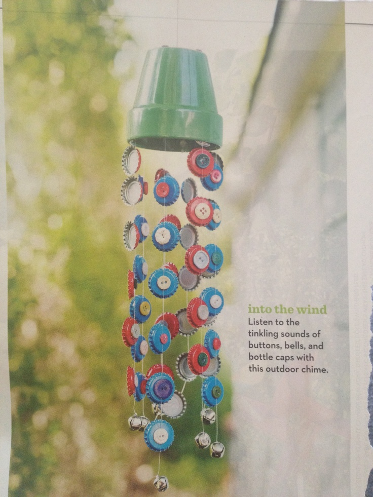 67 best images about crafts bottle caps rocks salt and for Wind chimes homemade crafts