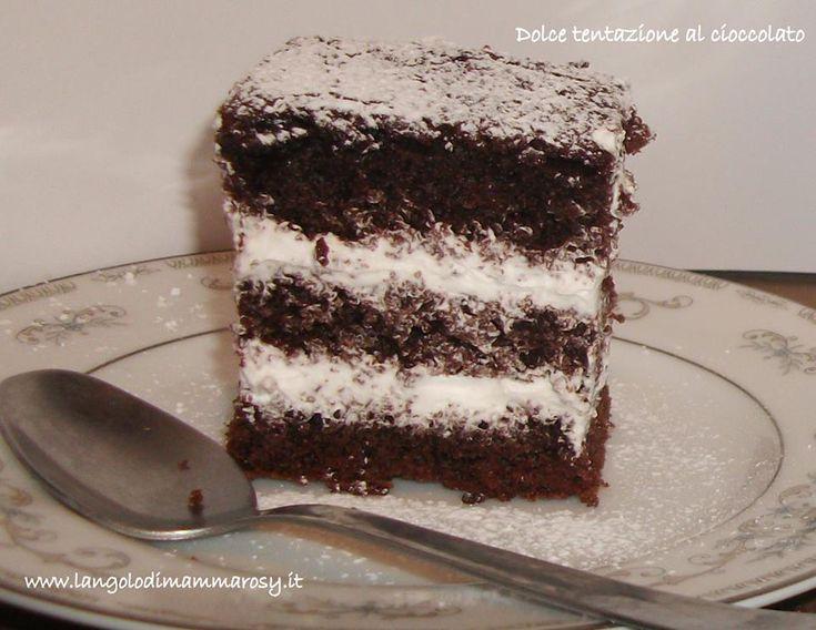 Un dolce che vi tenterà morso dopo morso   http://blog.giallozafferano.it/mammarosy/dolce-tentazione-al-cacao/