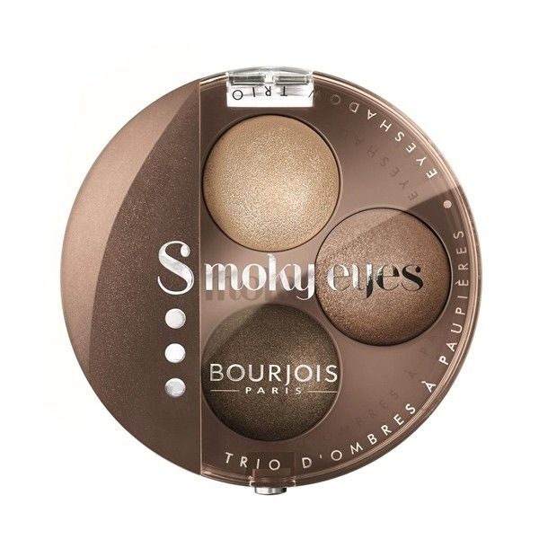 Bourjois Smokey Eyes Trio ($12) ❤ liked on Polyvore featuring beauty products, makeup, eye makeup, eyeshadow, nude ingenu, nude eyeshadow, bourjois and bourjois eyeshadow