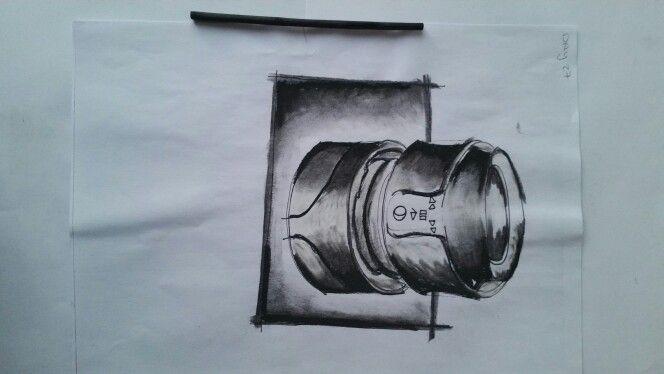 DAY 27: HEADPHONE DESIGN USING CHARCOAL.