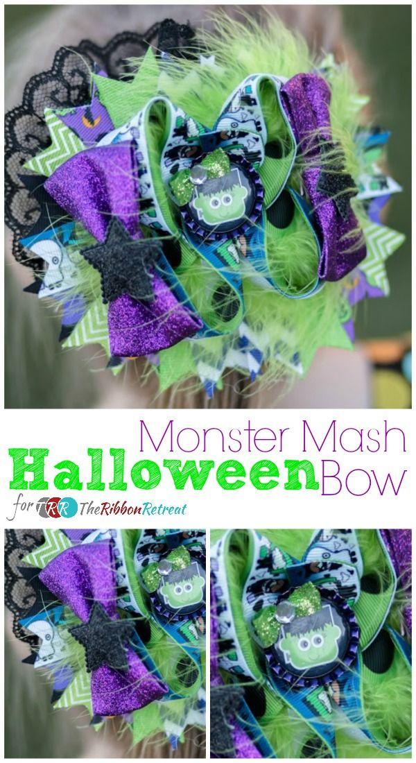Monster Mash Halloween Bow - The Ribbon Retreat Blog