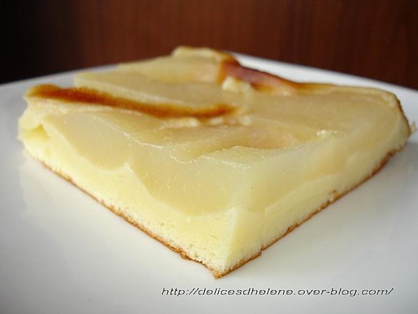 gâteau au fromage blanc 0% et poires
