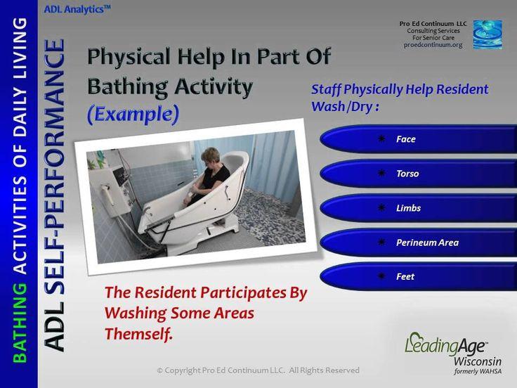 ADL Bathing (Demo) Senior care services, Nurse rock, Adl