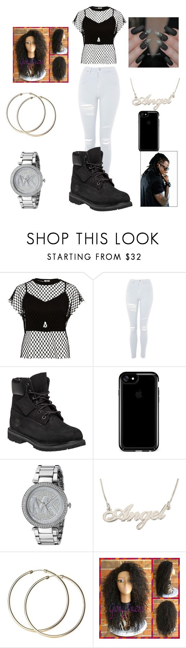 """ACE HOOD"" by malachiaewarrenwifeyjunnewarre on Polyvore featuring River Island, Topshop, Timberland, Speck and Michael Kors"