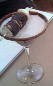 Campfire martini at the Chandelier bar inside the Cosmopolitan hotel in Las Vegas