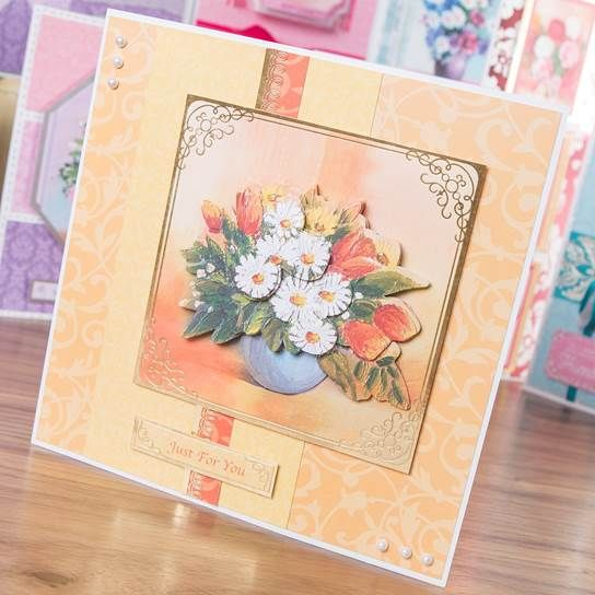 Stunning card from the #Kanban Floral Blooms Collection! Shop now: http://www.createandcraft.tv/SearchGridView.aspx?fh_location=//CreateAndCraft/en_GB/$s=kanban%20floral%20bloom&gs=kanban%20floral%20bloom #papercraft #cardmaking