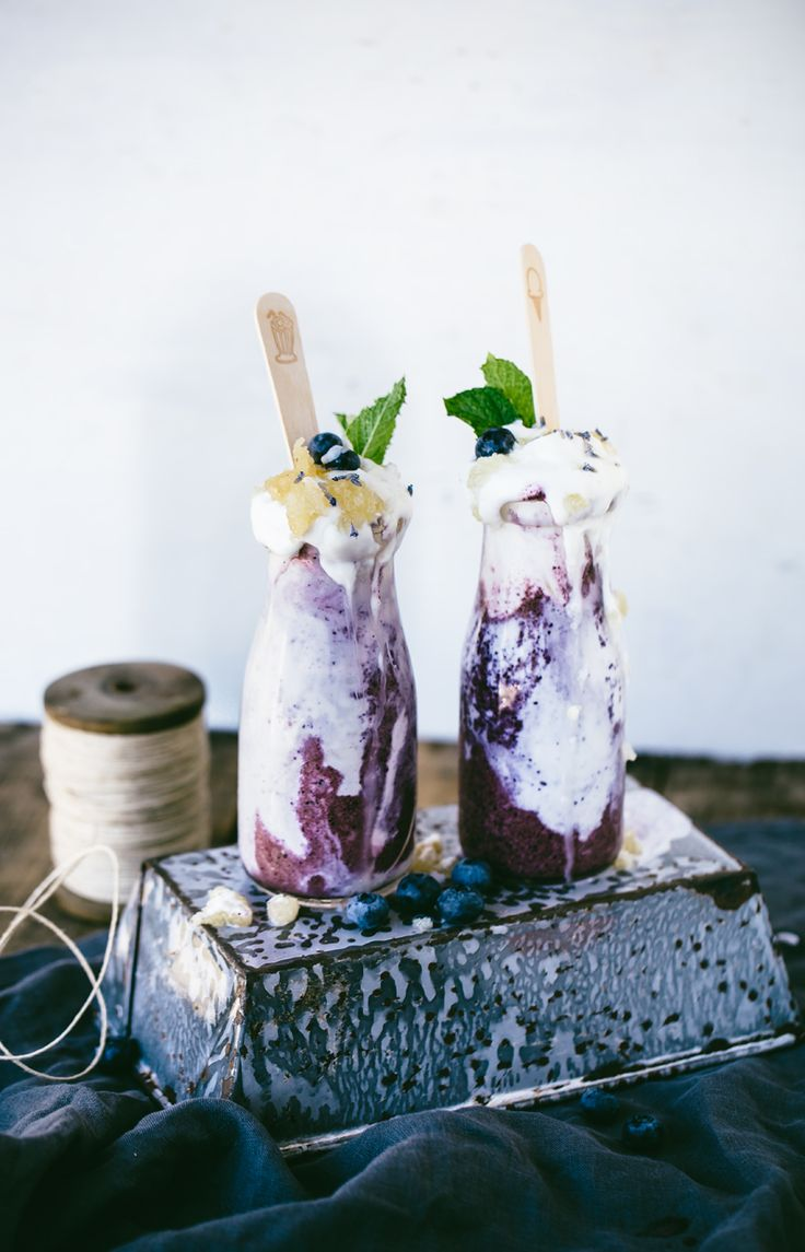 This all-natural blueberry, lavender, and honeycomb milkshake tastes as good as it sounds. Dairy-free version available.
