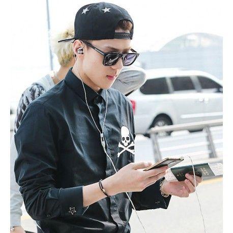 EXO (EXO-K EXO-M) - Black Line Bracelet EX108