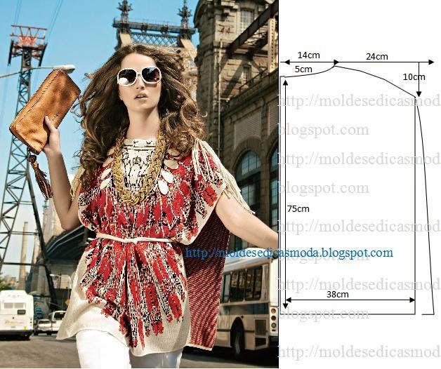 Moda e Dicas de Costura: TÚNICA FÁCIL DE FAZER – 1