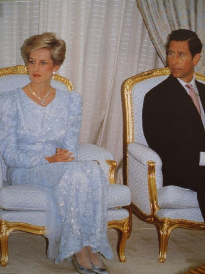 November 5, 1987: Prince Charles and Princess Diana at a Banquet hosted by Bavarian Premier Franz Josef Strauss and his daughter Monika Hohlmeier at their residence in Munich, Germany.