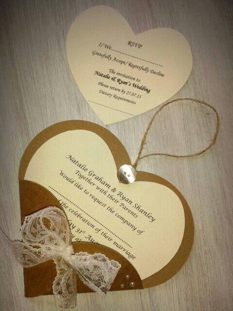 Heart wedding invitation & rsvp