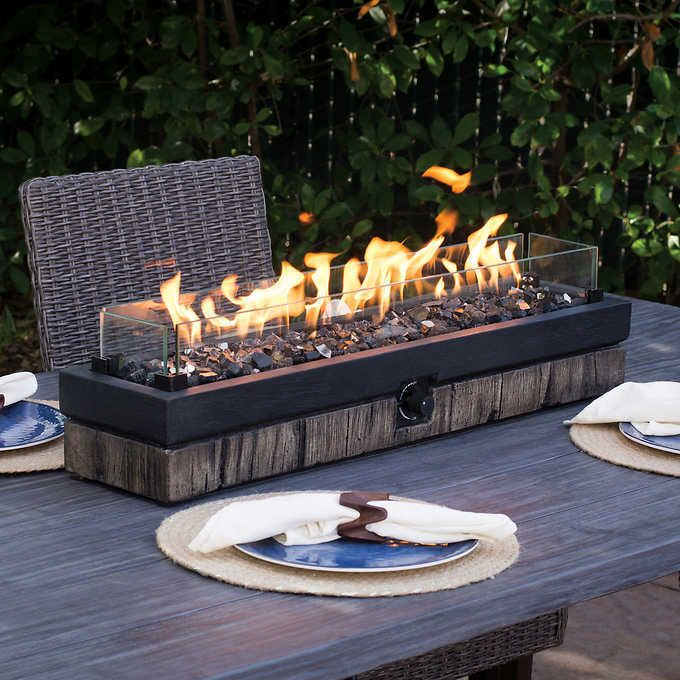 Outdoor Tabletop Gas Fire Pit Patio Table Top Propane Fireplace