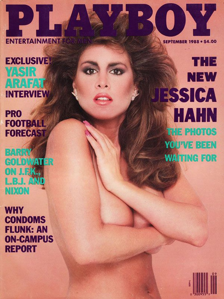 Playboy, Sept. 1988 — Jessica Hahn first came to public attention following Jim Bakker's announcement on March 19, 1987 that he was stepping down as head of PTL and Heritage USA, pending the imminent disclosure of a sexual encounter between Hahn (a church secretary) and himself.