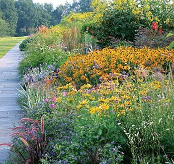 Perennial border at White Flower Farm in Litchfield, CN