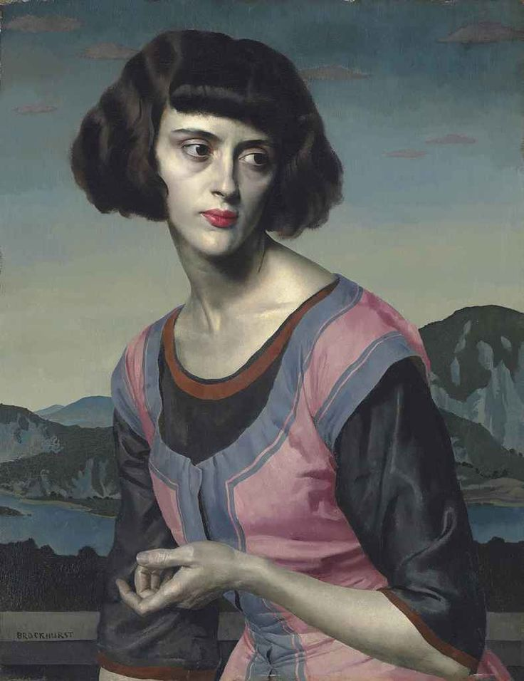 Gerald Brockhurst (English, 1890-1978), Nadia, probably early 1920s. Oil on panel, 24 x 18 ½ in.