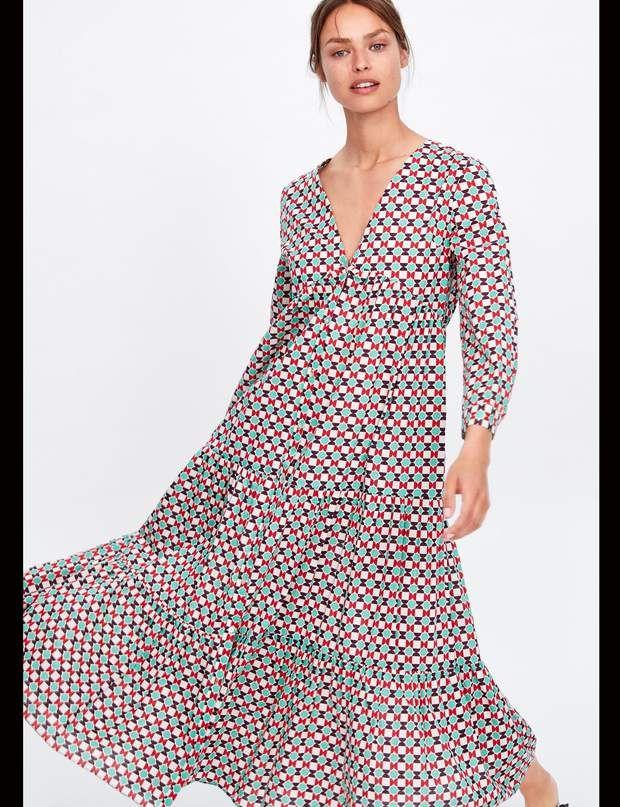 Robe longue fendue à imprimé fleuri | Idées vestimentaires