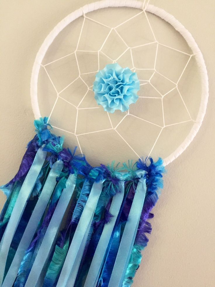 A personal favourite from my Etsy shop https://www.etsy.com/au/listing/498389724/dreamcatcher-blue-bedroom-accessories