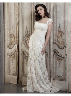 Lace Sheath Column Wedding Dress